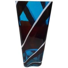 """""""Scozzese"""" Vase 4595 by Fulvio Bianconi for Venini, 1954-1957"""