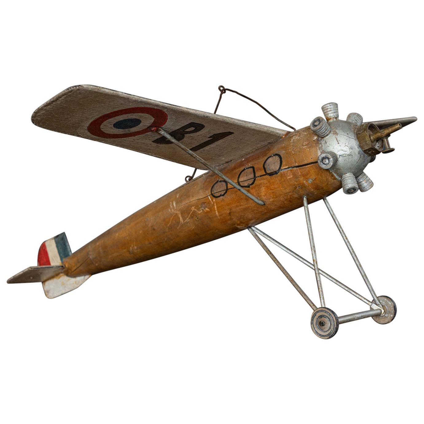 Scratch Built French Airplane, Early Mid-20th Century