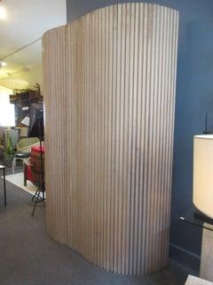 Screen or Room Divider in Pickled Oak