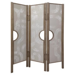 Screen with 3 Panels with De Gournay Covering Art Déco Garden André Fu Living