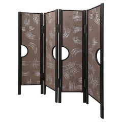 Screen with 4 Panels with De Gournay Covering Art Déco Garden André Fu Living