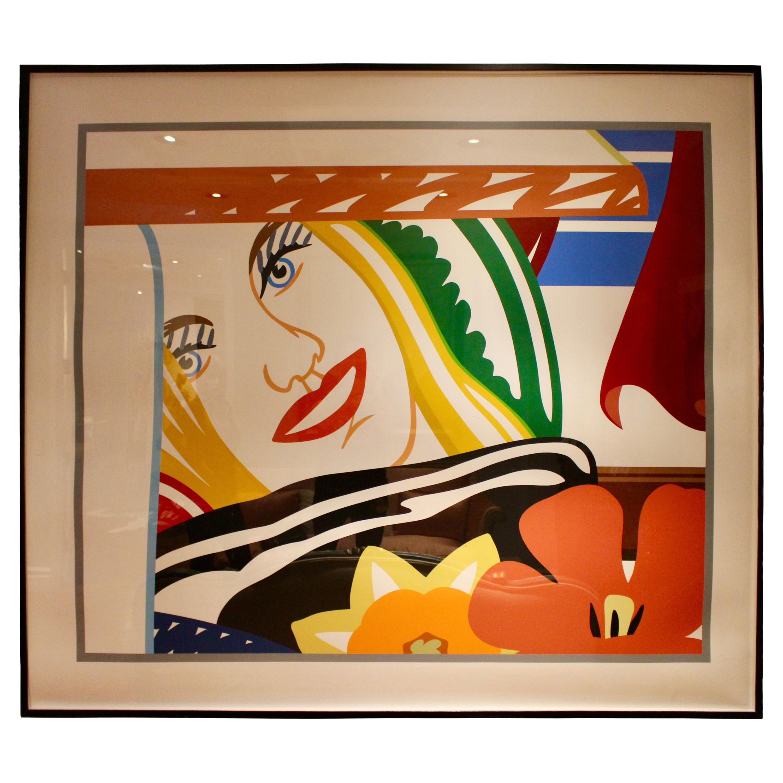 Screenprint Bedroom Face #41 in Colors on Museum Board by Tom Wesselmann