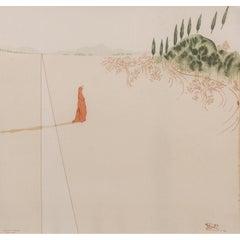 Screenprint on silk after Salvador Dali's illustration for Dante's Divine Comedy