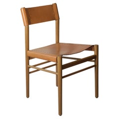Scriba Contemporary Oak and Leather Dining Chair