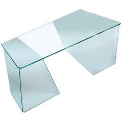 Scribe Curved Glass Desk by Daniel Libeskin for Fiam