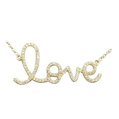 "Scripted ""Love"" Diamond Pendant"