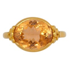 Scrives Cognac Orange Tourmalines 22 Karat Gold Ring