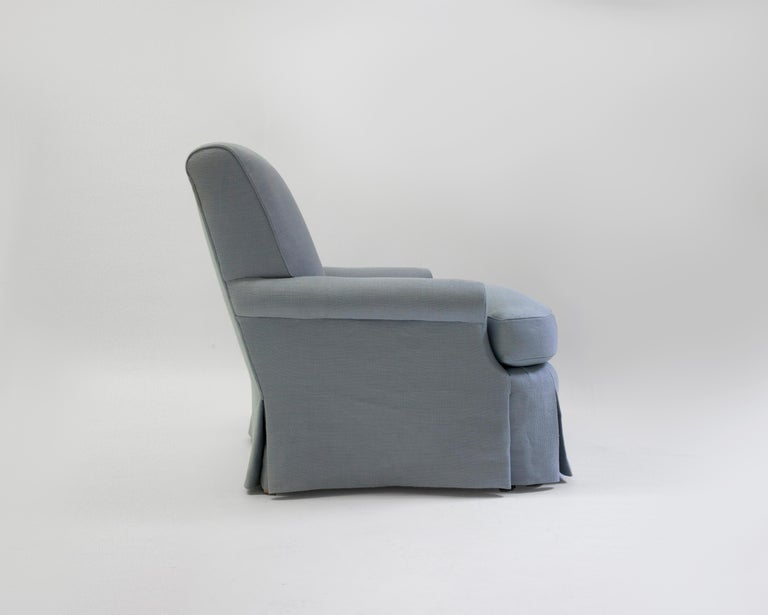 The Nolis club chair is our version of one of the most popular styles of club chair known, a classic style club chair that is extremely comfortable and can be a welcome addition in any room, hair filled scroll back and arms with down and feather