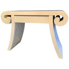 Scroll Edge Lacquer Desk Vanity