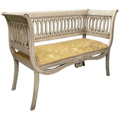 Scroll Form Bench in the Style of Dorothy Draper