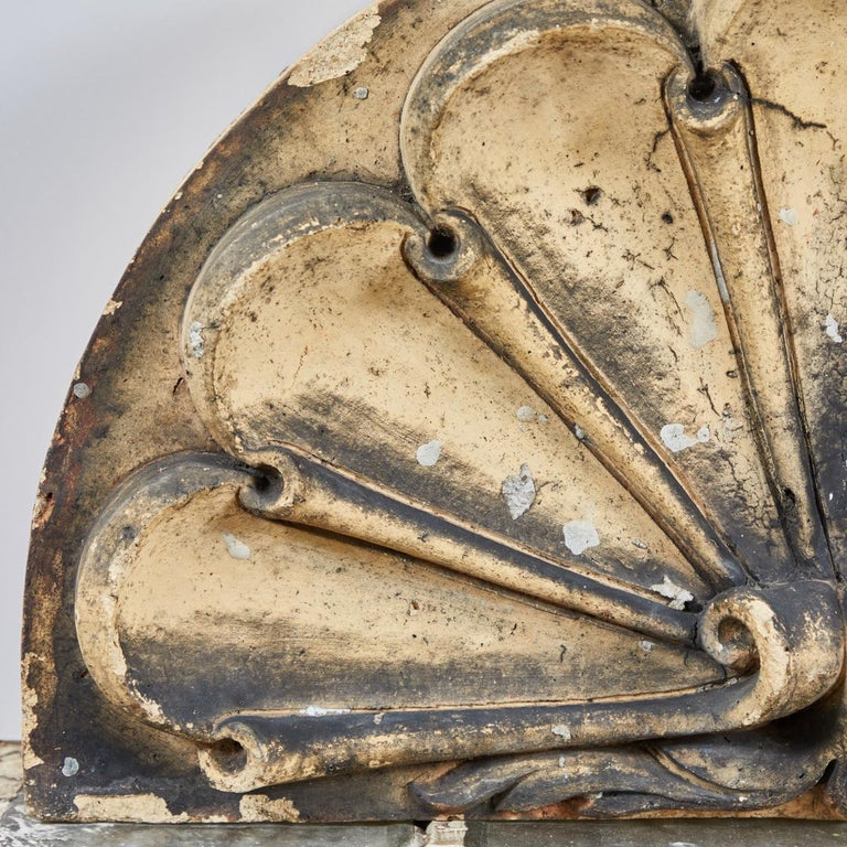 Scrolled Fan Terracotta Overdoor from Late 19th Century, England For Sale 1
