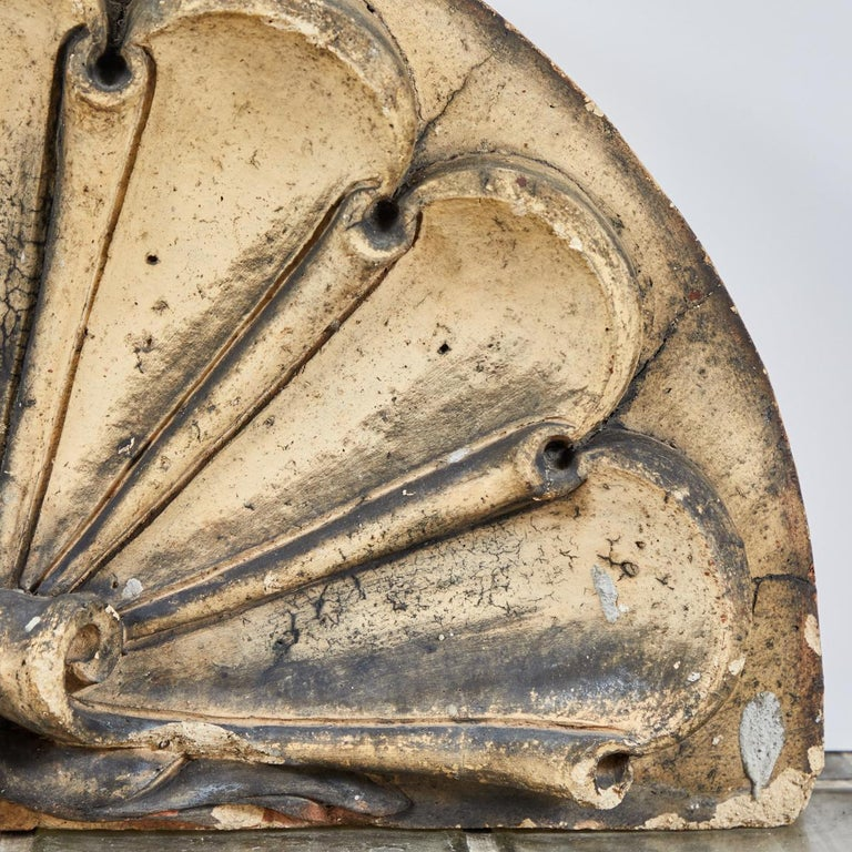 Scrolled Fan Terracotta Overdoor from Late 19th Century, England For Sale 2