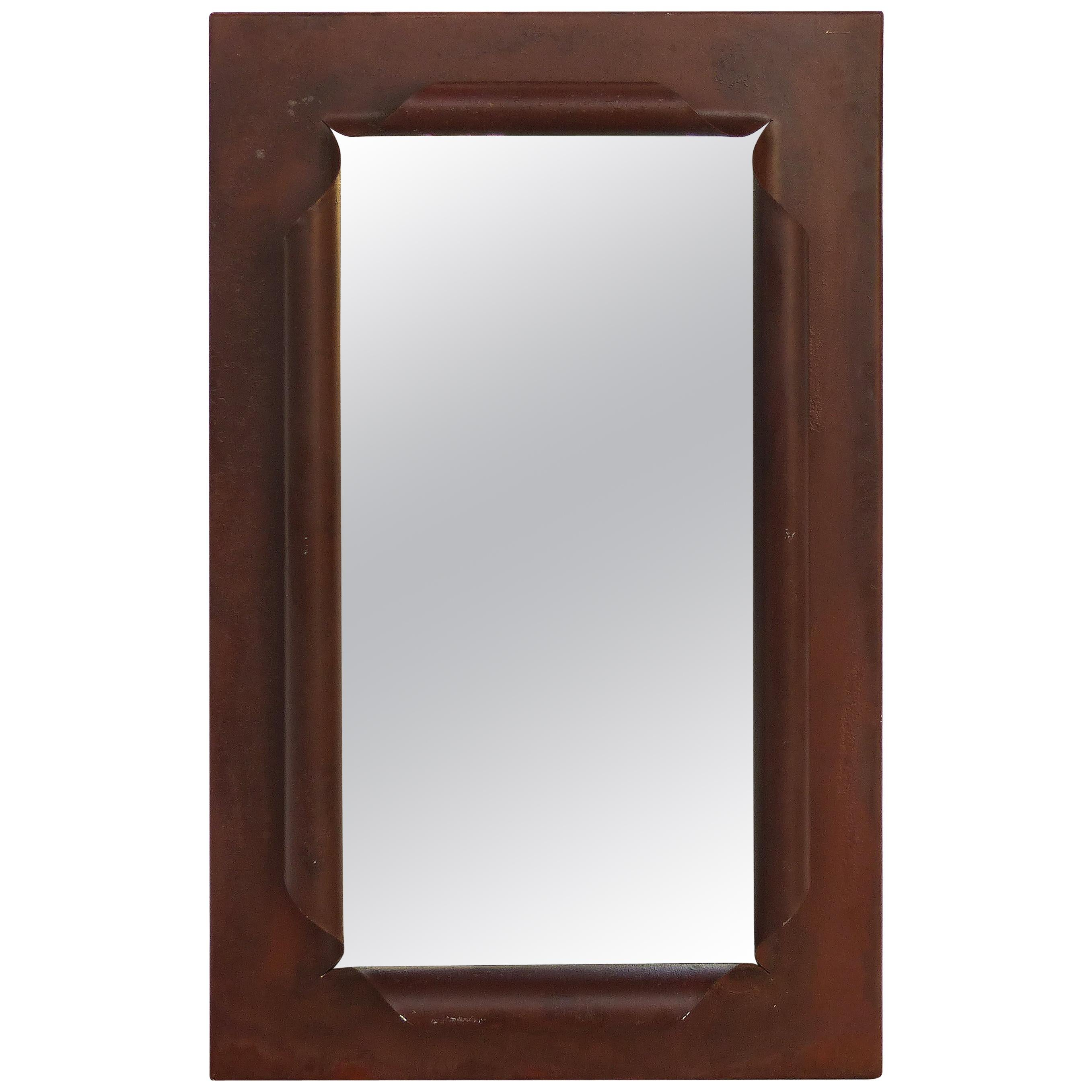 """""""Scrolled"""" Wrought Iron Mirror"""