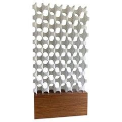 Sculpta-Grille Screen on Walnut Base by Richard Harvey, 1960s