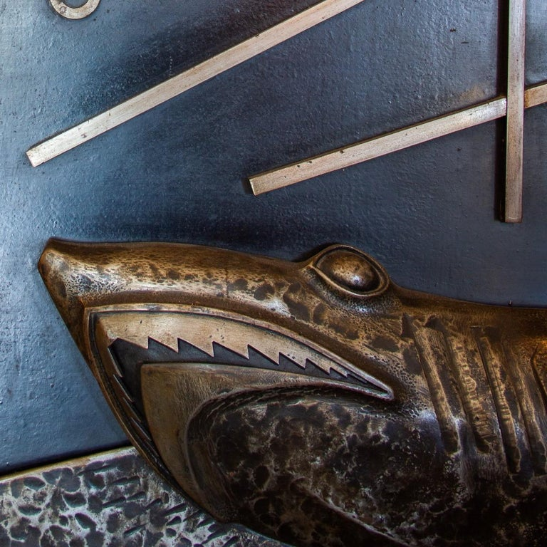 Sculpted and Cast Metal Panel by Michel Zadounaisky, 1933 For Sale 4