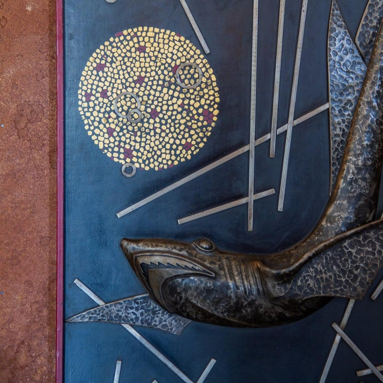 Sculpted and Cast Metal Panel by Michel Zadounaisky, 1933 For Sale 1