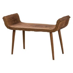 Sculpted Bench or Coffee Table N12 in Solid Oakwood