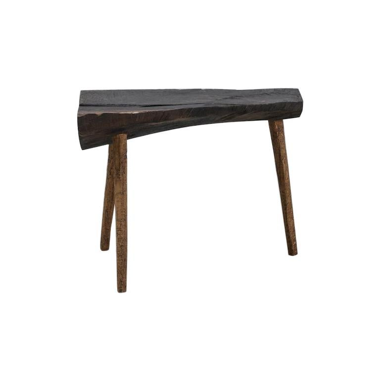 Sculpted Bench or Side Table N6 in Solid Oakwood