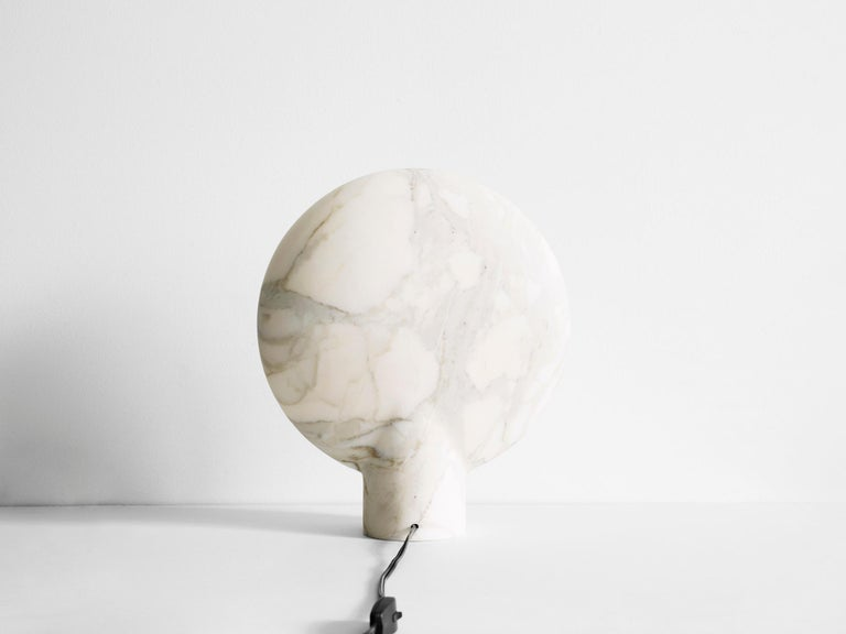 Sculpted Calacatta Viola Marble Lamp by Henry Wilson For Sale 5