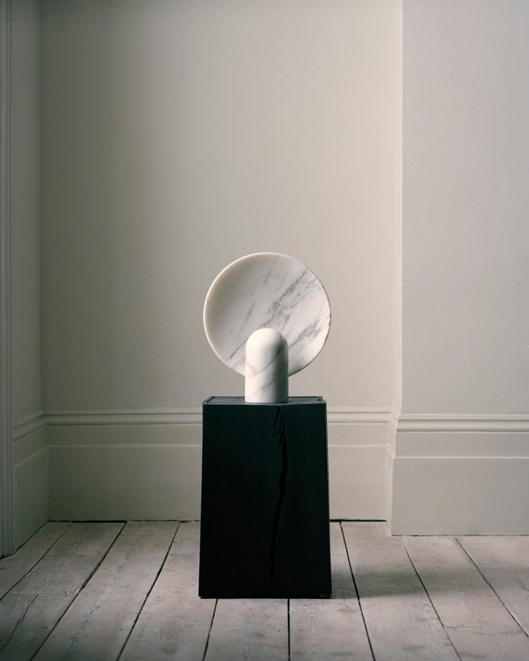 Sculpted Calacatta Viola Marble Lamp by Henry Wilson For Sale 8