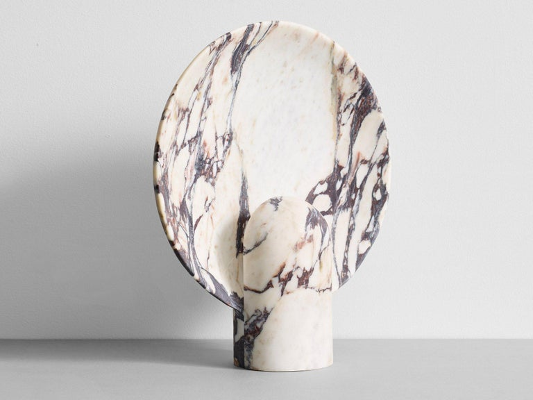 Sculpted Calacatta Viola Marble Lamp by Henry Wilson In New Condition For Sale In Collonge Bellerive, Geneve, CH
