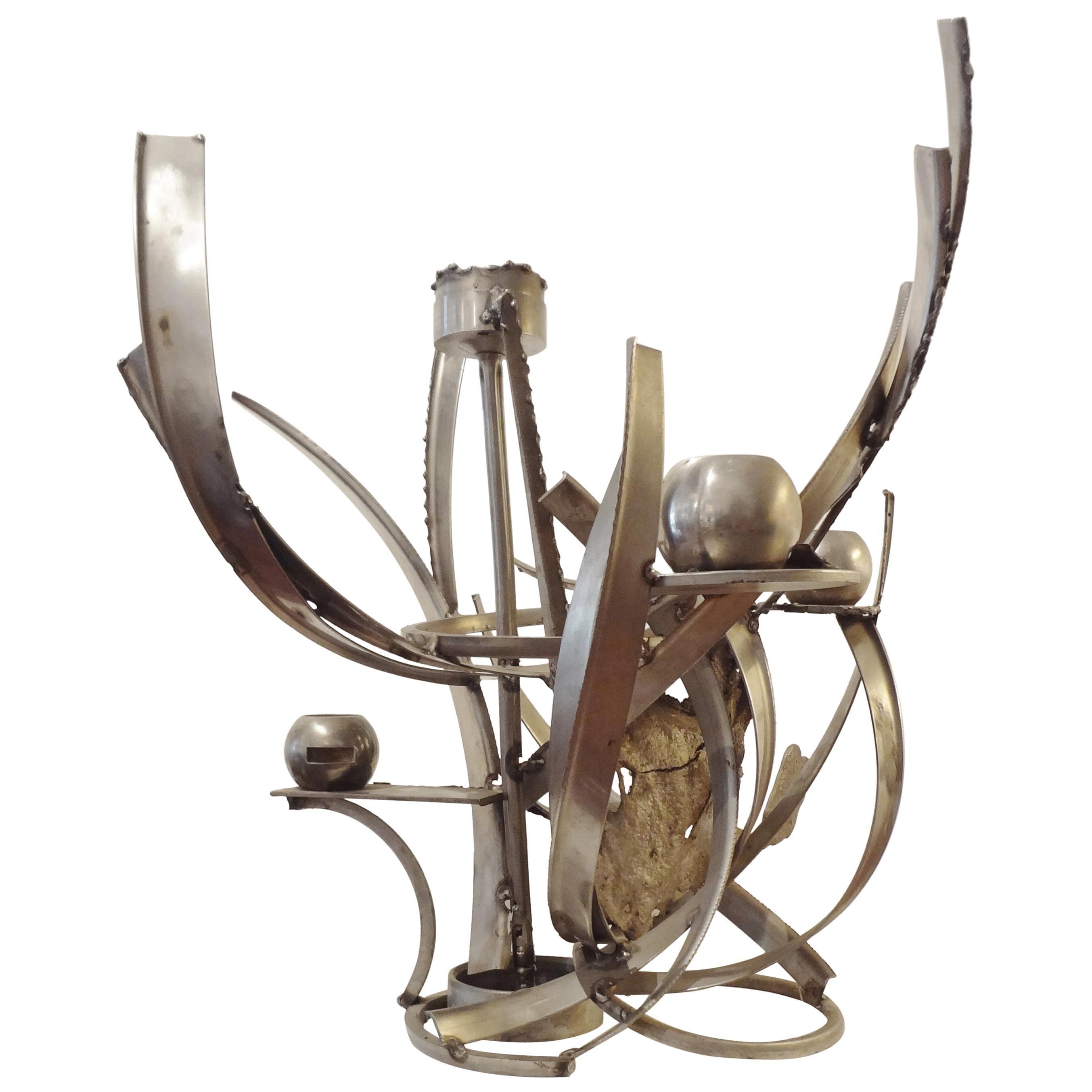 Sculpted Candlestick by Albert Feraud, 1970s