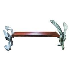Sculpted Cast Aluminum Bench
