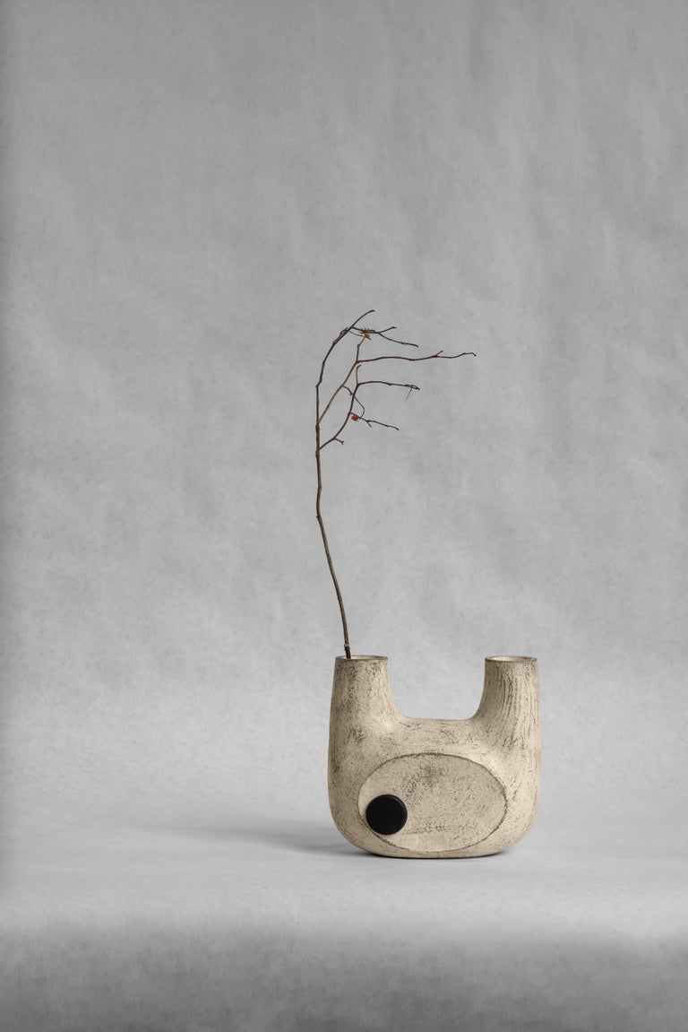 Sculpted Ceramic Vase by FAINA For Sale 9