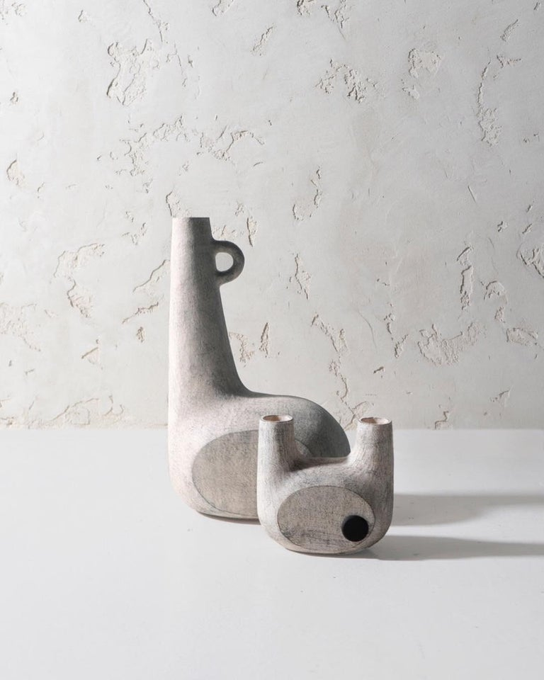 Sculpted Ceramic Vase by FAINA In New Condition For Sale In Geneve, CH