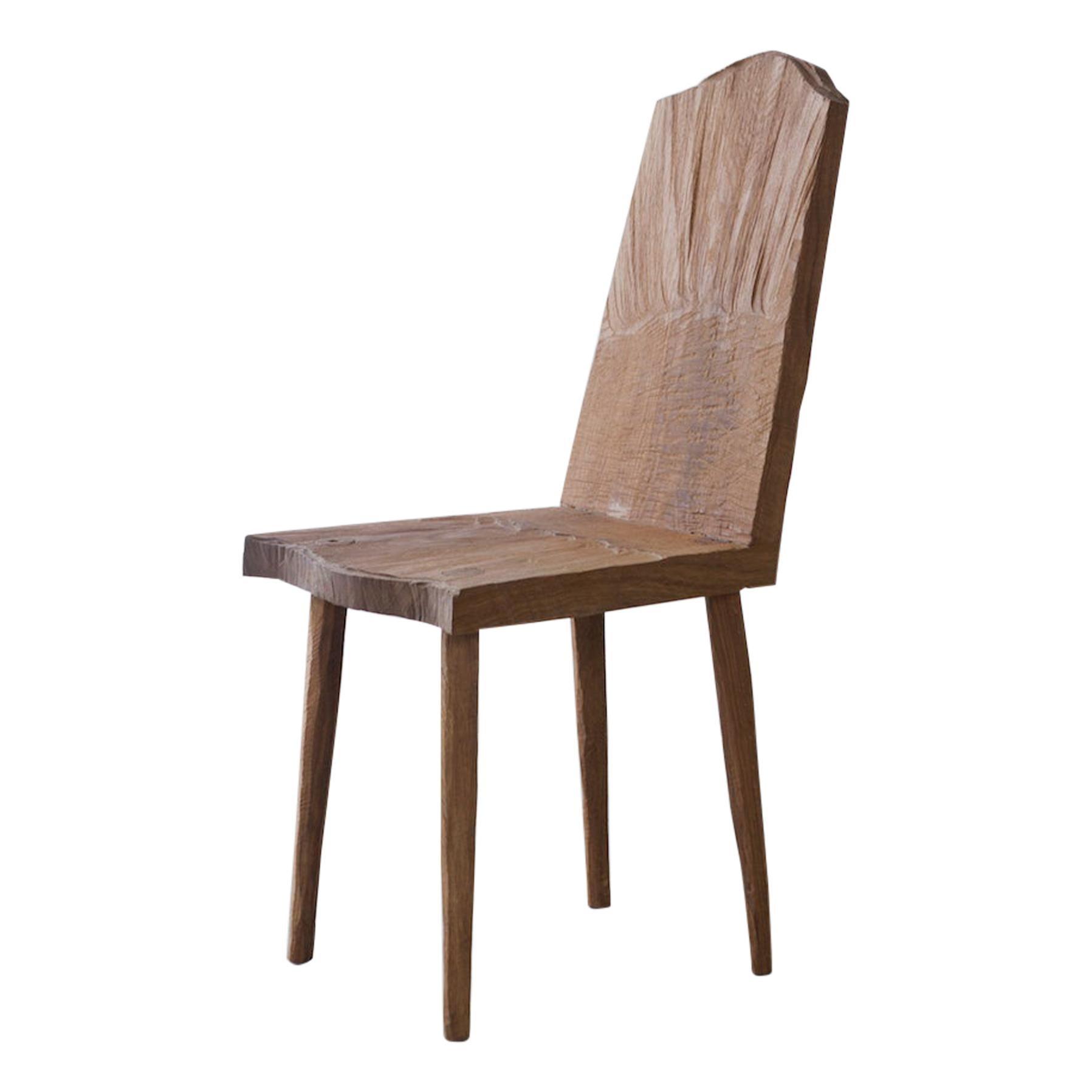 Sculpted Chair N1 in Solid Oak Wood