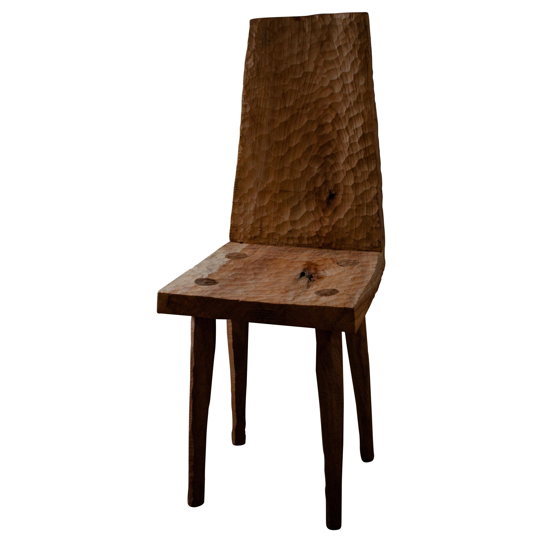Sculpted Chair N3 in Solid Oak Wood