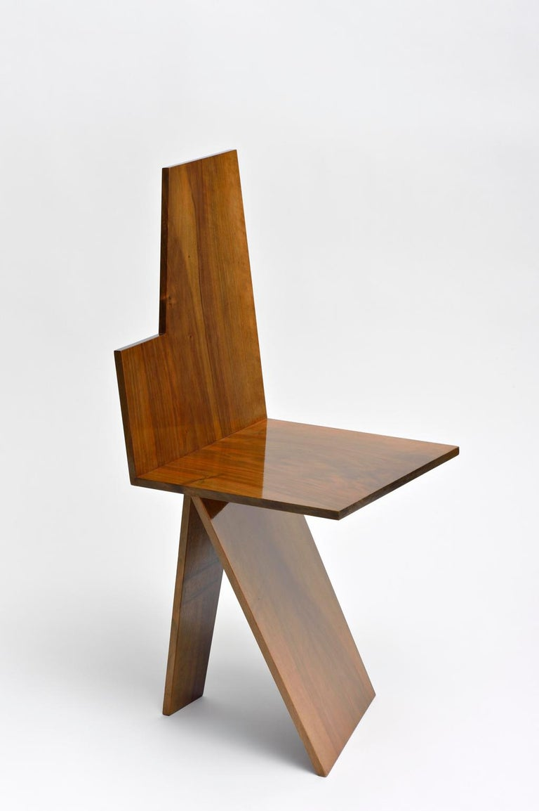 Sculpted chair Mosoo - signed by Kaaron Signed and numbered Edition of 8 + 4 AP Walnut Dimensions: (H) 44cm x (pl) 37.5cm x 35cm  Kaaron Important emerging French artists.