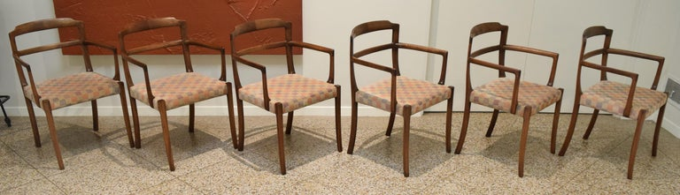 Sculpted Chairs by Ole Wanscher For Sale 4