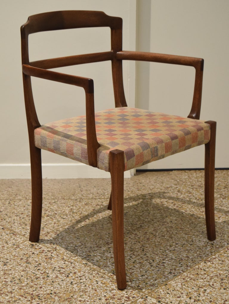 Sculpted Chairs by Ole Wanscher In Good Condition For Sale In Princeton, NJ