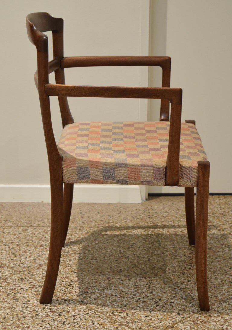 Mid-20th Century Sculpted Chairs by Ole Wanscher For Sale