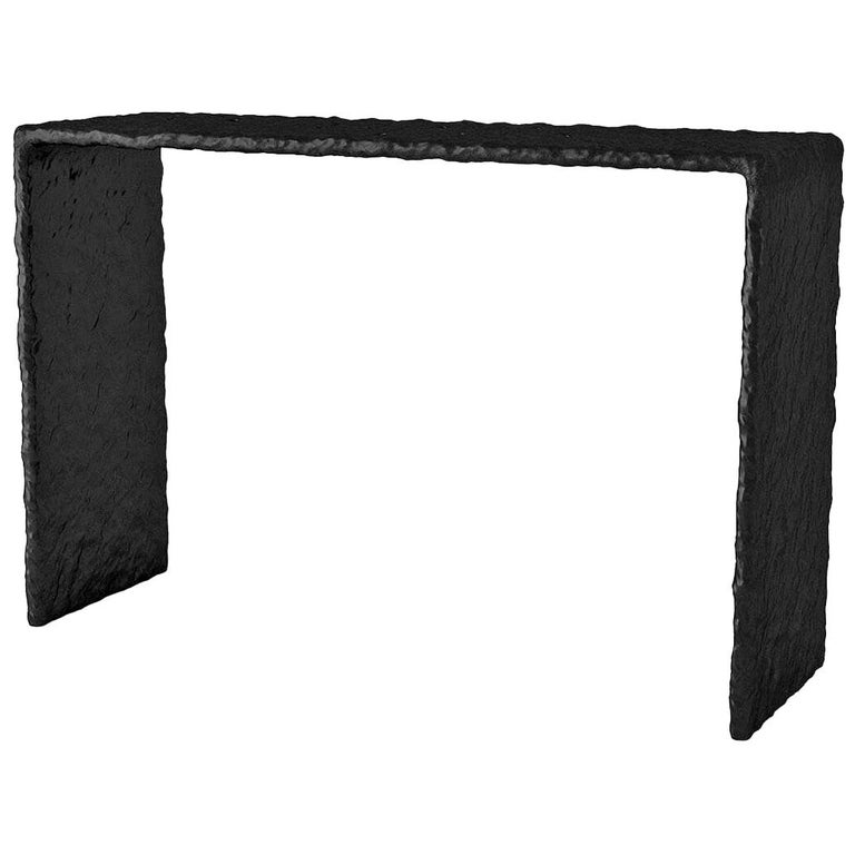 Sculpted Contemporary Console Table by FAINA For Sale
