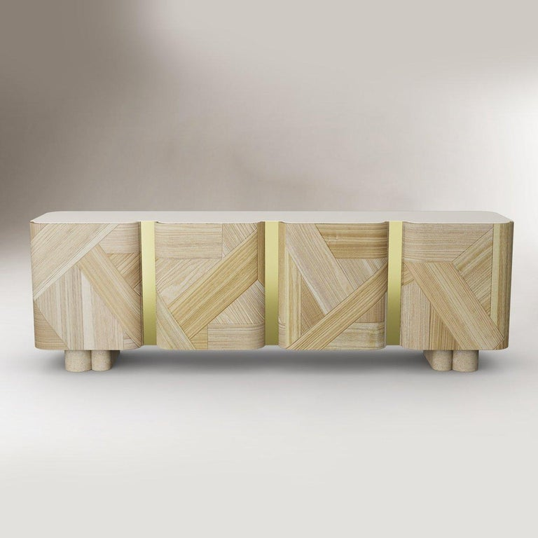 Portuguese Sculpted Contemporary Sideboard by Dooq For Sale