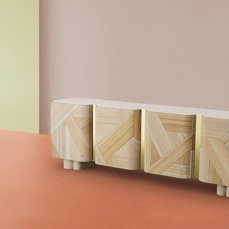 Sculpted Contemporary Sideboard by Dooq In New Condition For Sale In Geneve, CH