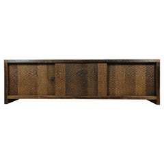 Sculpted Credenza 'Hammered' in Solid Oakwood 'Custom Size'