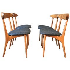 Sculpted Dining Chairs by Kurt Ostervig