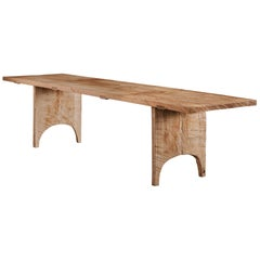 Sculpted Dining Table in Solid Oakwood 'Custom Size' 16ft
