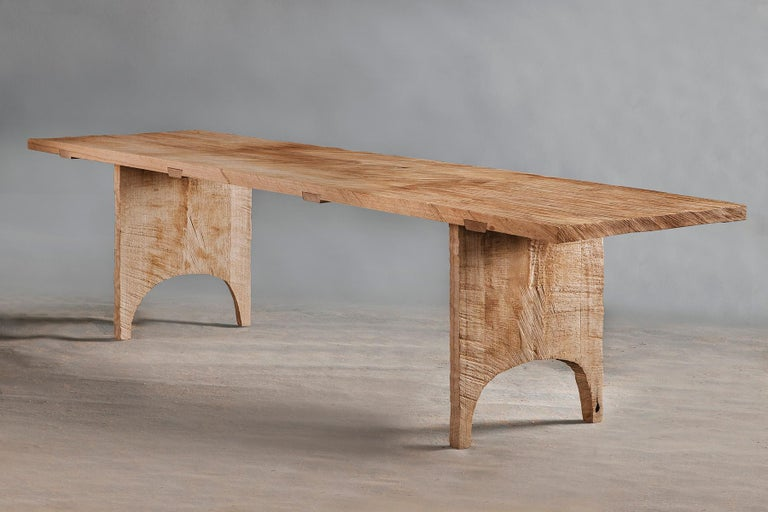 Dining table of solid oak (+ linseed oil) (Outdoor use OK)   Warm furniture's made by Russian designer Denis Milovanov from