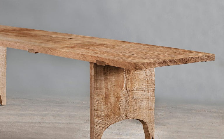 Russian Sculpted Dining Table in Solid Oakwood 'Custom Size' For Sale