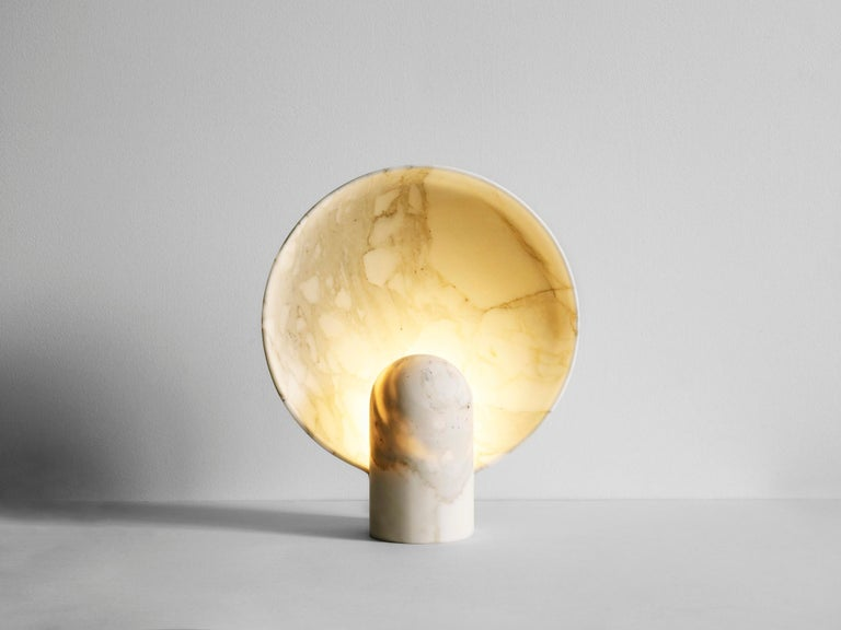 Sculpted Duoro Marble Lamp by Henry Wilson In New Condition For Sale In Collonge Bellerive, Geneve, CH