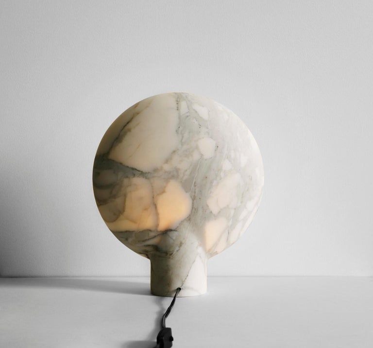 Sculpted Duoro Marble Lamp by Henry Wilson For Sale 1