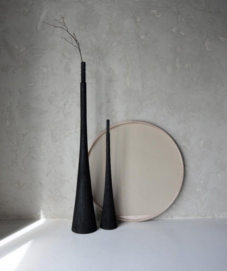 Ukrainian Sculpted Floor Decor Vases by Victoria Yakusha For Sale