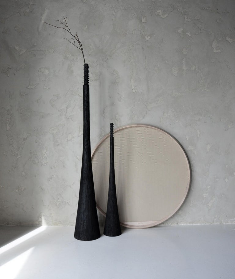 Contemporary Sculpted Floor Decor Vases by Victoria Yakusha For Sale