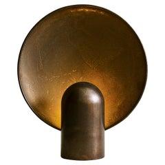 Sculpted Gunmetal Bronze Lamp by Henry Wilson