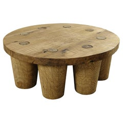 Sculpted Low Table in Solid Oakwood 'Custom Size'