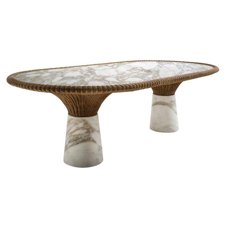 "Sculpted Marble ""Amazonas"" Dining Table, Giorgio Bonaguro For Sale"